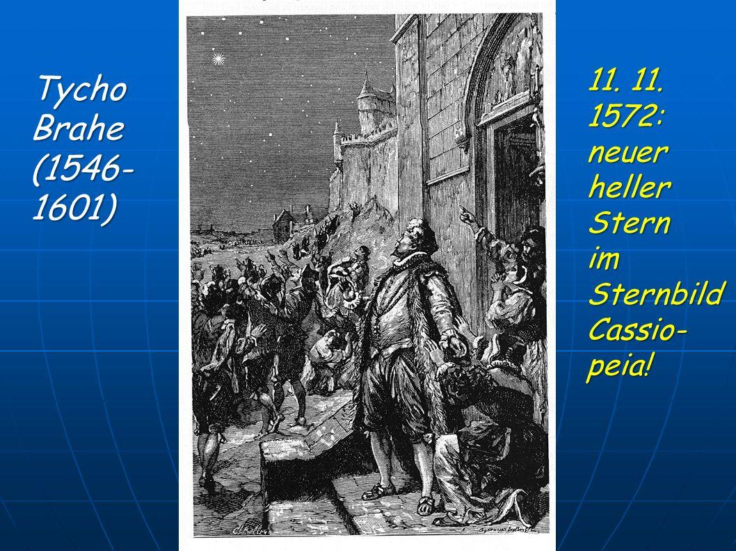 Tycho Brahe (1546- 1601) 11. 11. 1572: neuer heller Stern im Sternbild