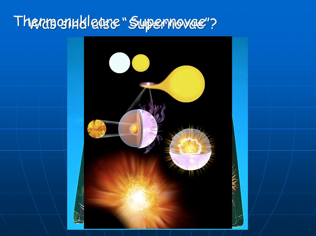 Thermonukleare Supernovae