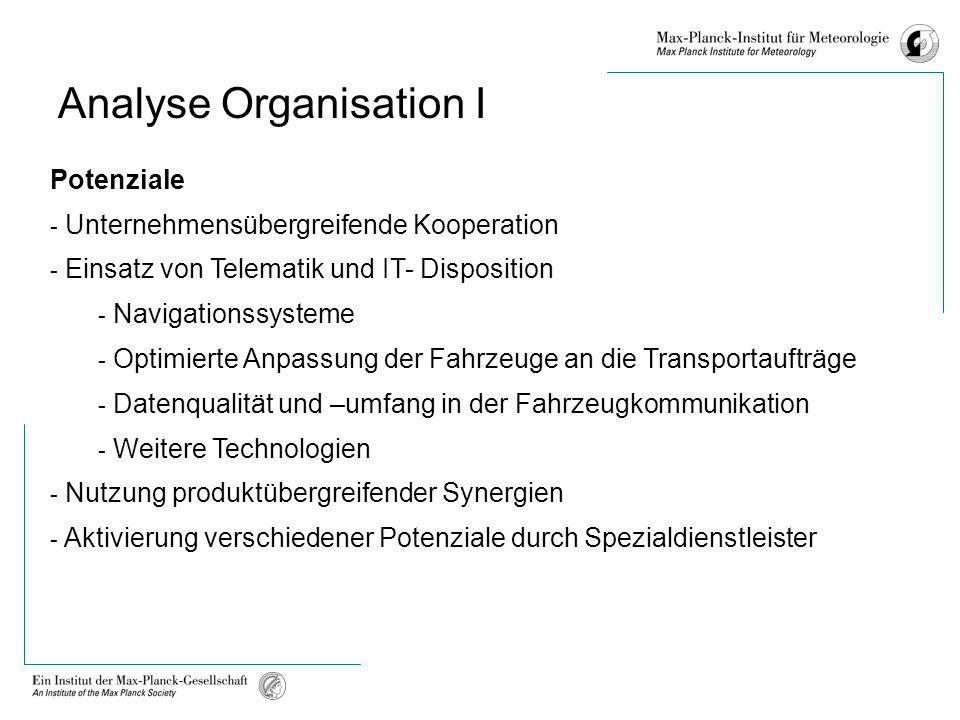 Analyse Organisation I