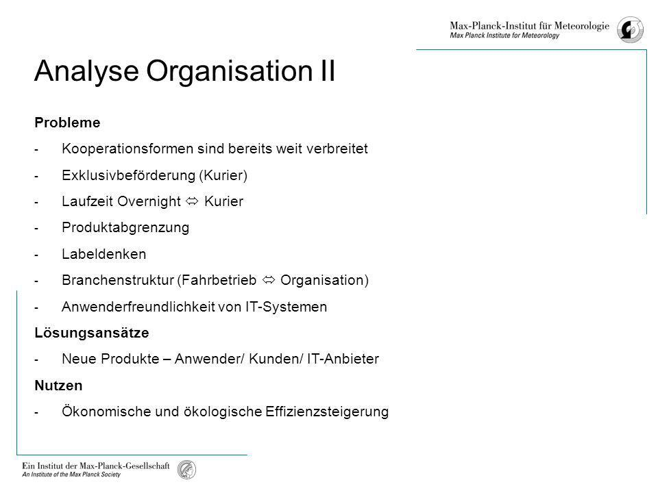 Analyse Organisation II