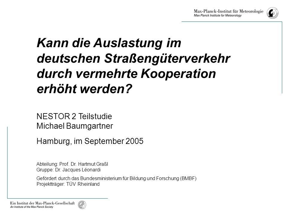 Kann die Auslastung im deutschen Straßengüterverkehr durch vermehrte Kooperation erhöht werden