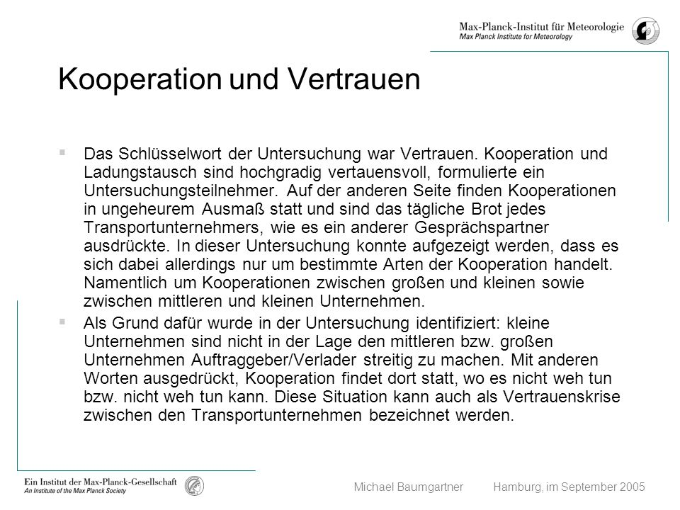 Kooperation und Vertrauen