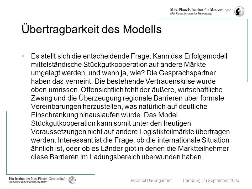 Übertragbarkeit des Modells