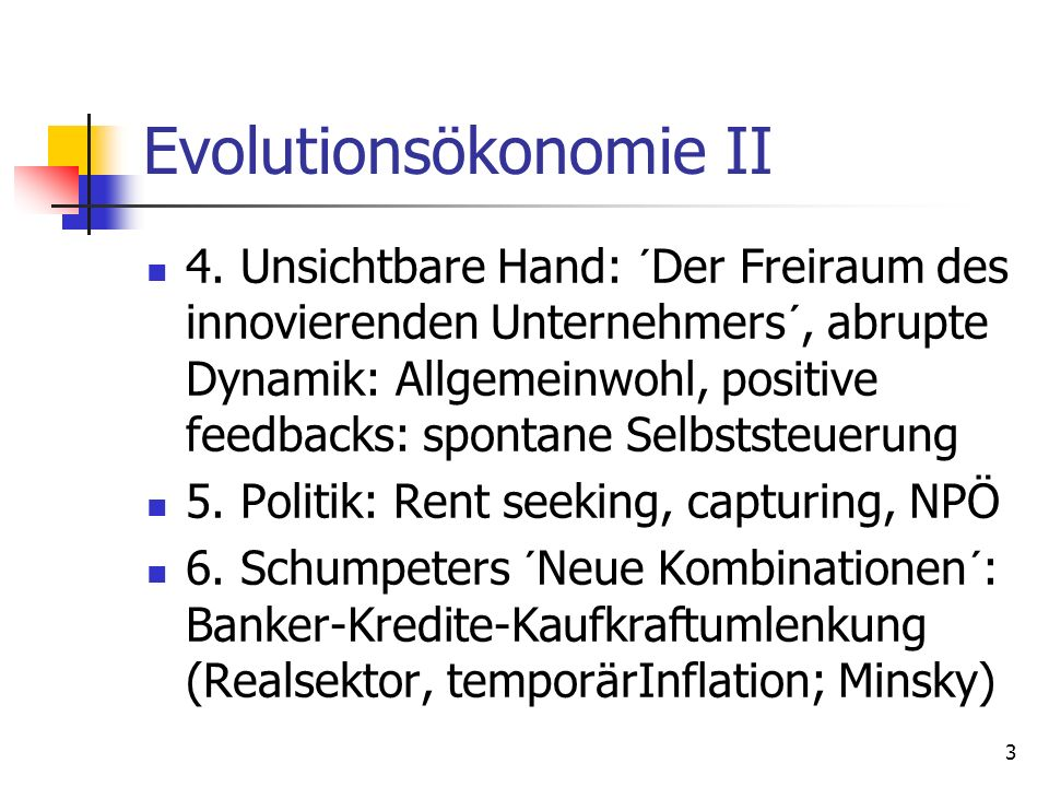 Evolutionsökonomie II