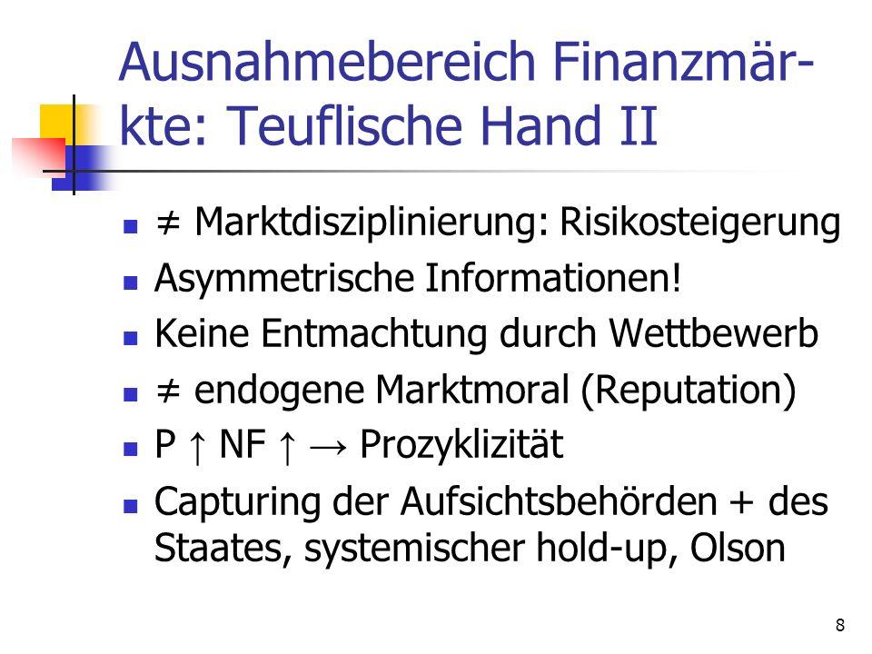 Ausnahmebereich Finanzmär-kte: Teuflische Hand II
