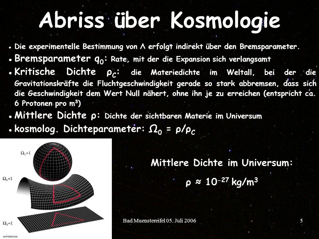 Abriss über Kosmologie