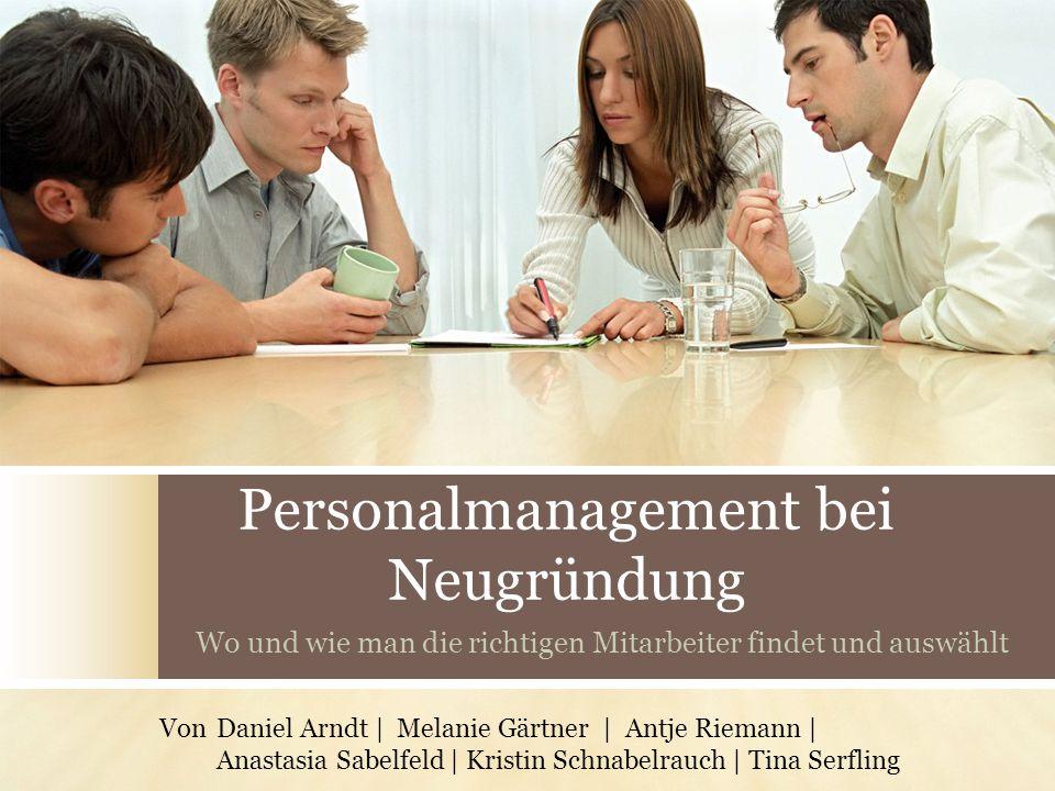 Personalmanagement bei Neugründung