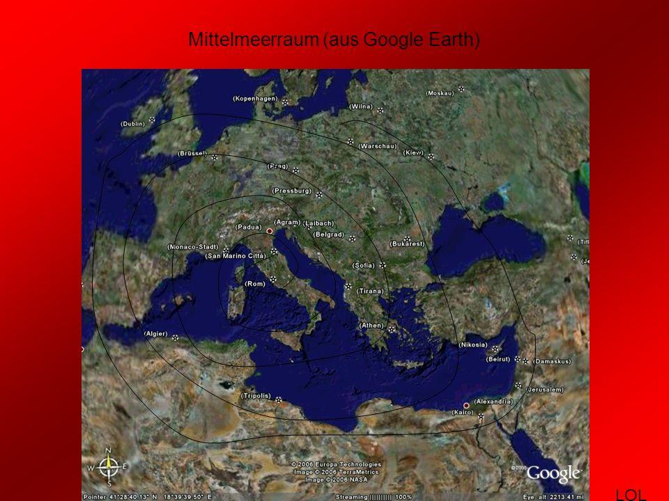 Mittelmeerraum (aus Google Earth)