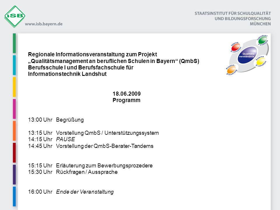 Regionale Informationsveranstaltung zum Projekt