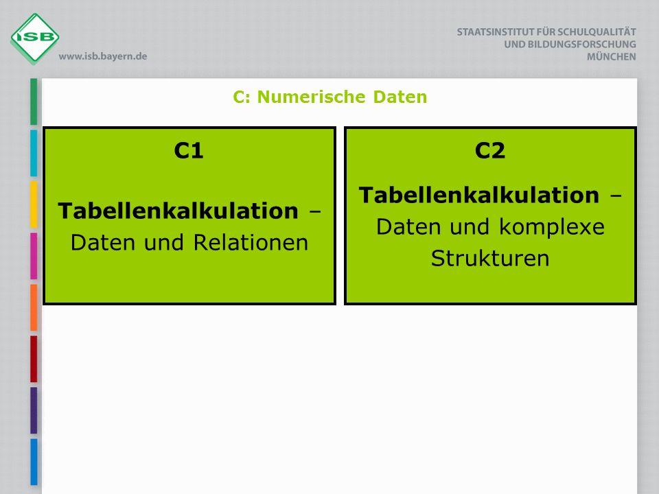 C1 Tabellenkalkulation – Daten und Relationen