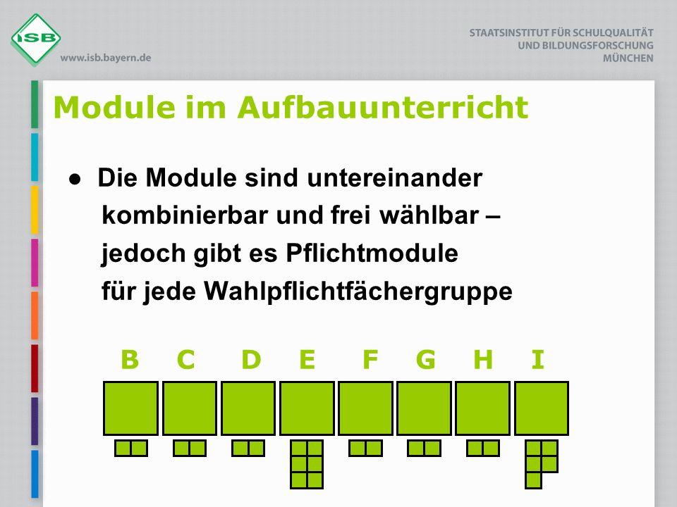 B C D E F G H I Module im Aufbauunterricht