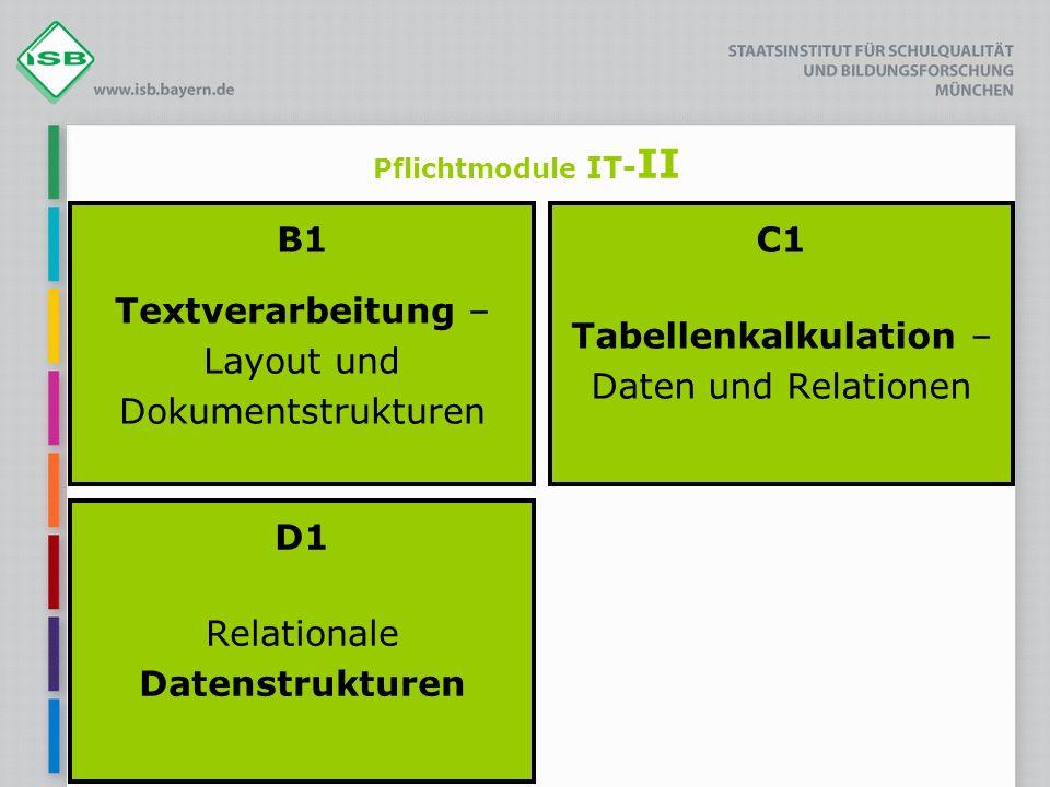 B1 Textverarbeitung – Layout und Dokumentstrukturen
