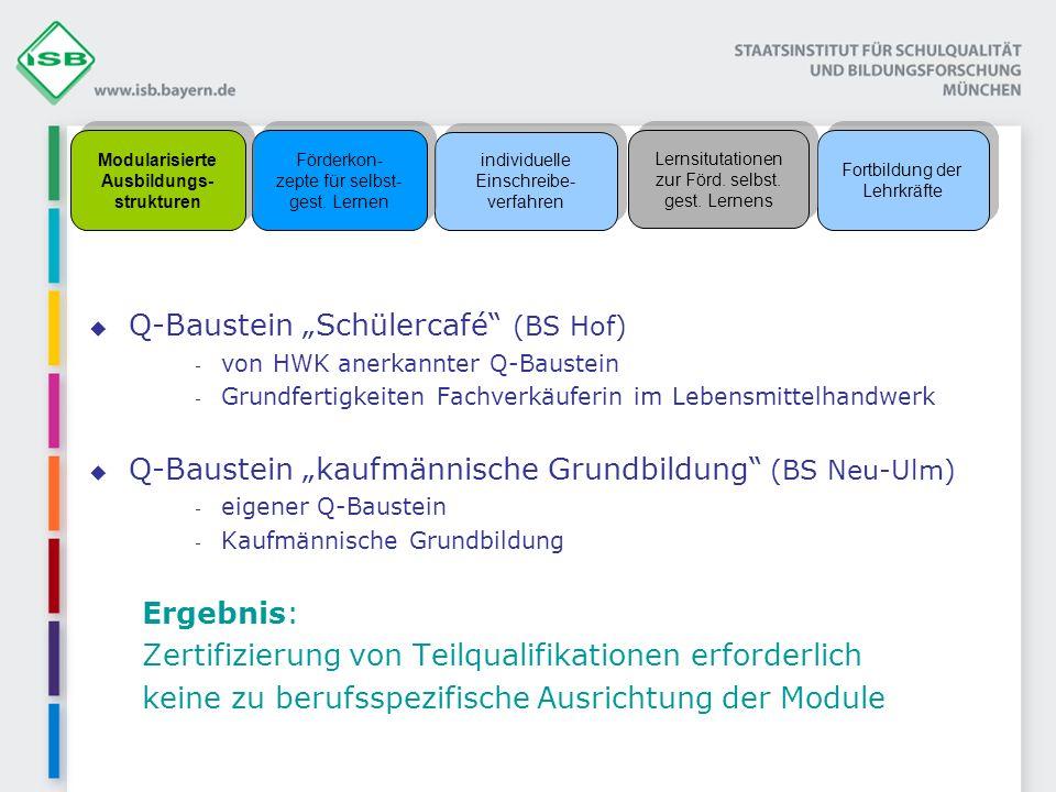 Modularisierte Ausbildungs- strukturen