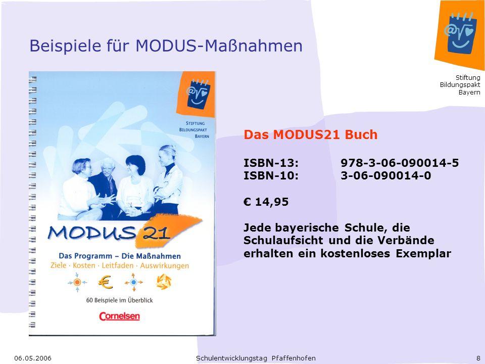 Beispiele für MODUS-Maßnahmen