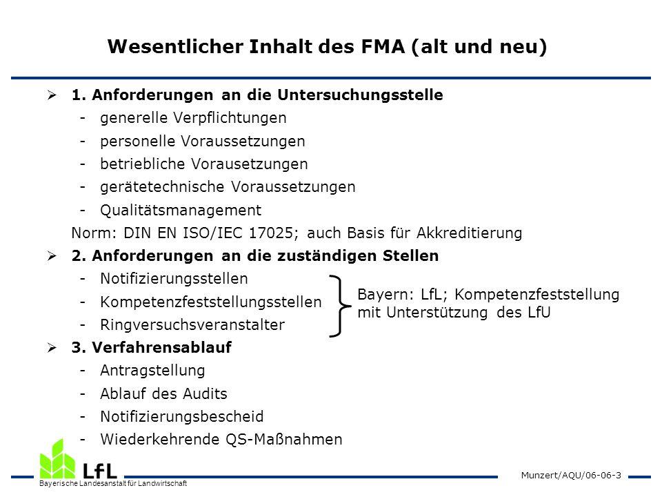 Wesentlicher Inhalt des FMA (alt und neu)