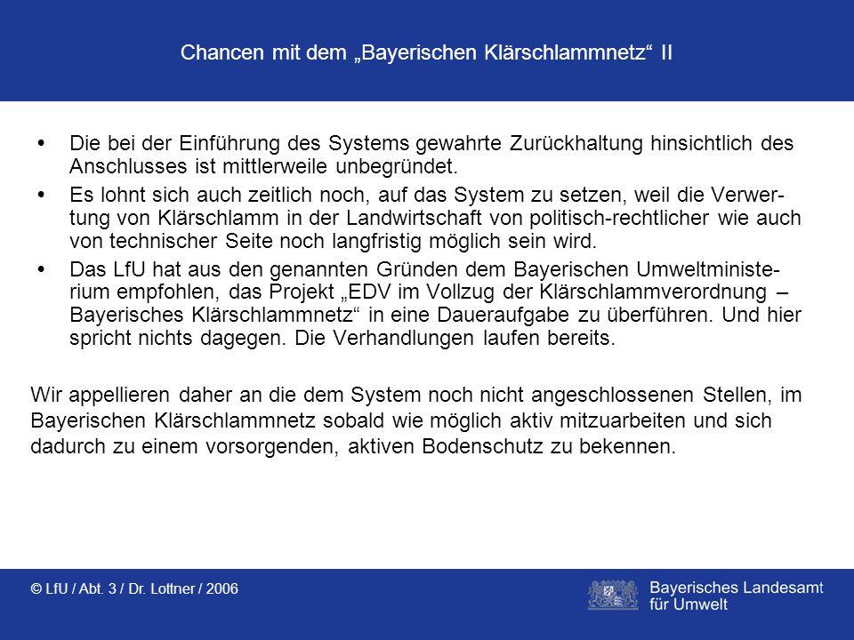 """Chancen mit dem """"Bayerischen Klärschlammnetz II"""
