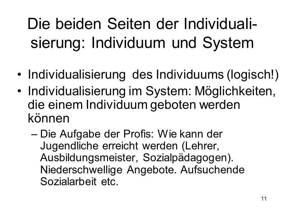 Die beiden Seiten der Individuali-sierung: Individuum und System