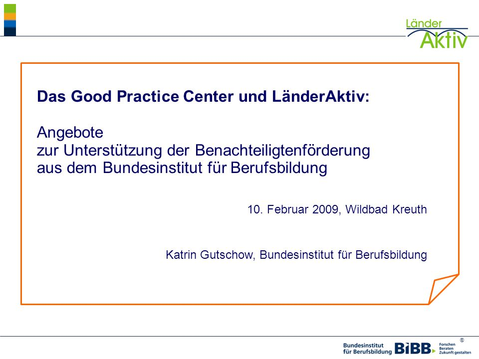 Das Good Practice Center und LänderAktiv: Angebote