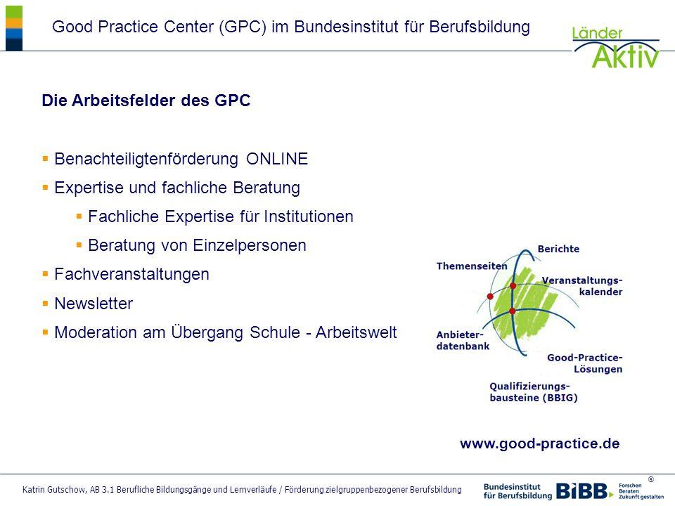 Good Practice Center (GPC) im Bundesinstitut für Berufsbildung