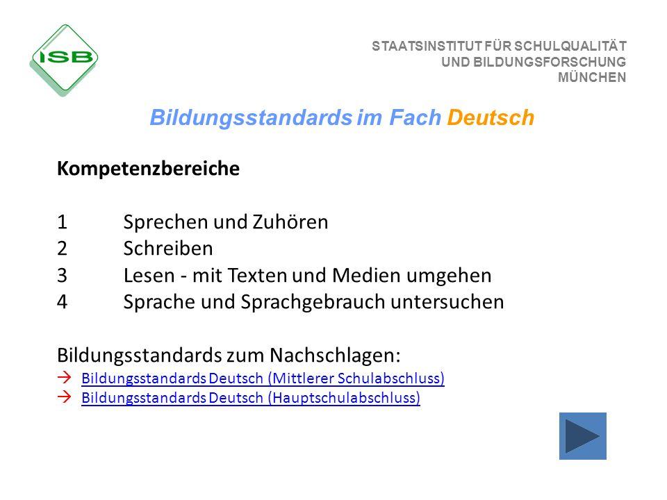 Bildungsstandards im Fach Deutsch