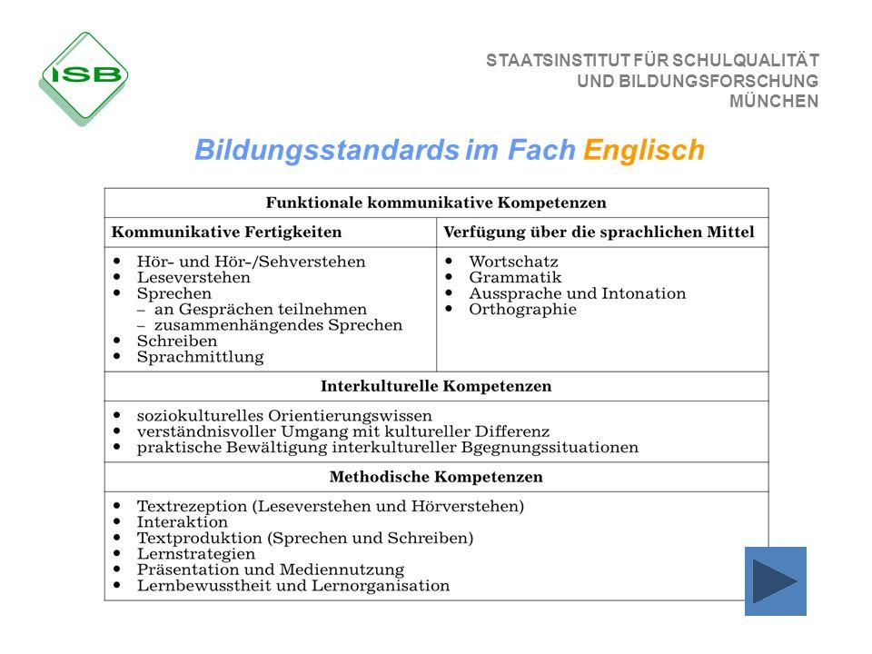 Bildungsstandards im Fach Englisch