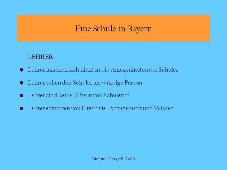 Eine Schule in Bayern LEHRER: