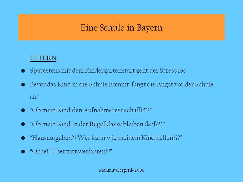 Eine Schule in Bayern ELTERN: