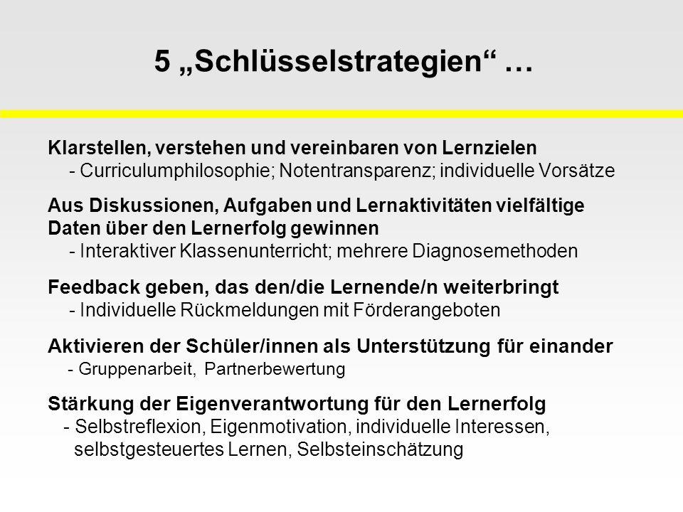 """5 """"Schlüsselstrategien …"""