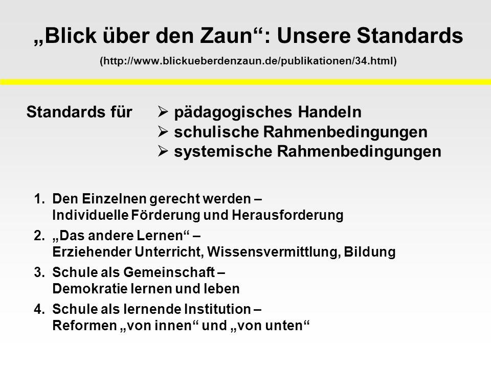"""Blick über den Zaun : Unsere Standards (http://www. blickueberdenzaun"