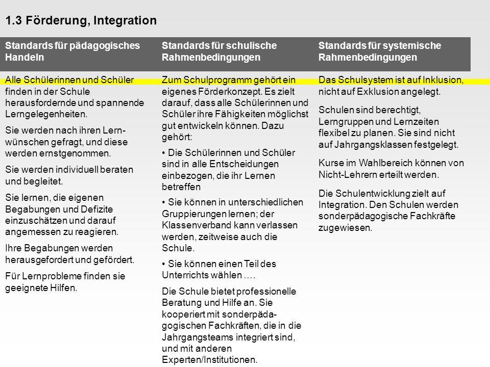 1.3 Förderung, Integration