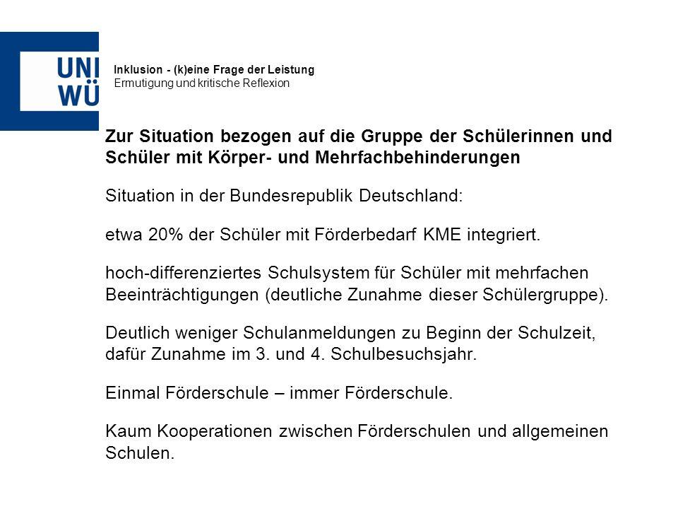 Situation in der Bundesrepublik Deutschland: