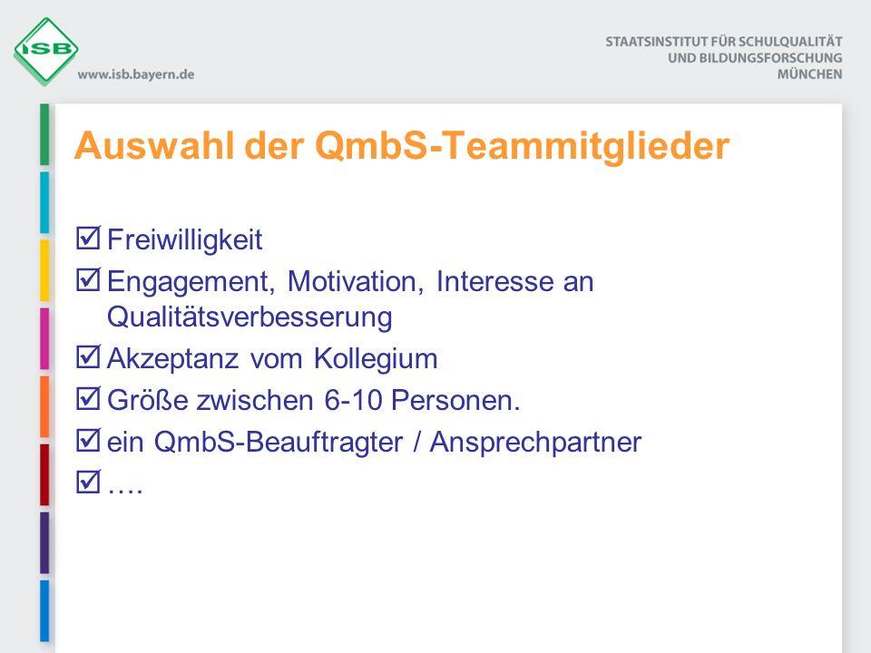 Auswahl der QmbS-Teammitglieder