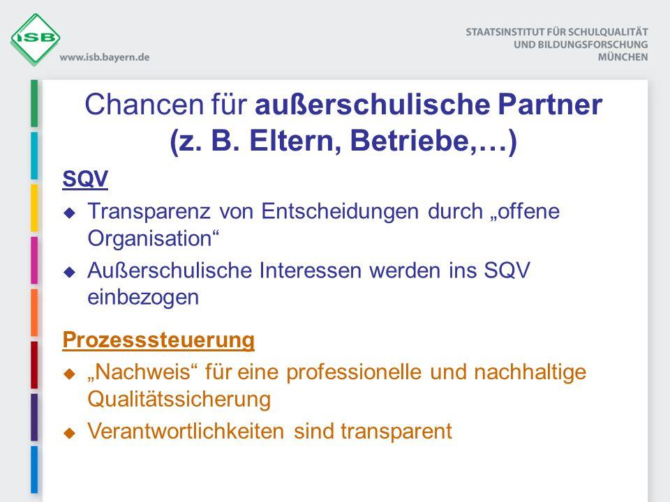 Chancen für außerschulische Partner (z. B. Eltern, Betriebe,…)