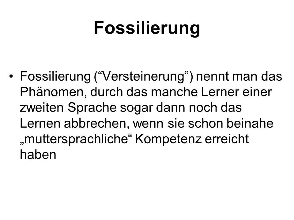 Fossilierung