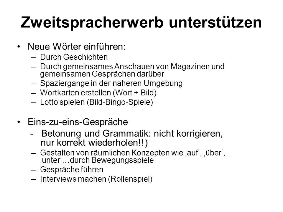 Zweitspracherwerb unterstützen
