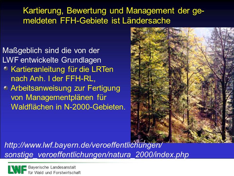 Kartierung, Bewertung und Management der ge-