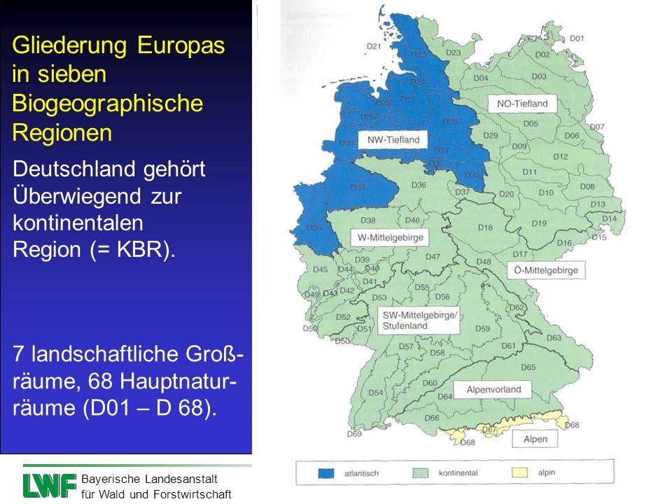 Gliederung Europas in sieben Biogeographische Regionen