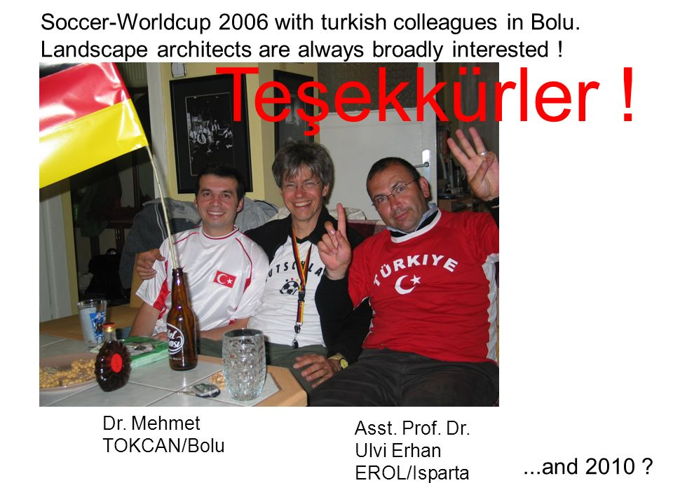 Teşekkürler ! Soccer-Worldcup 2006 with turkish colleagues in Bolu.