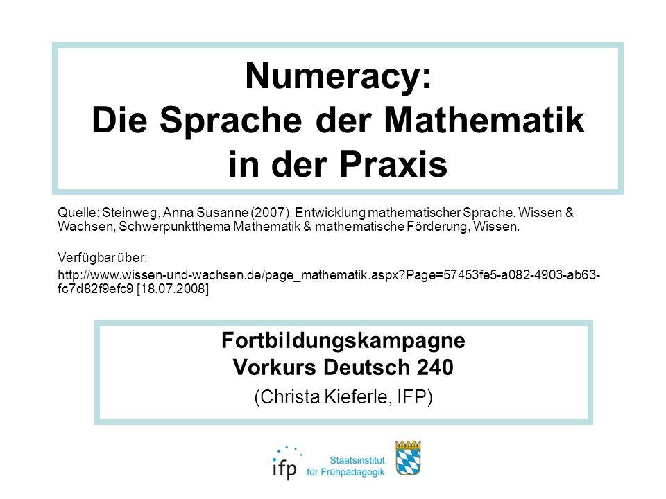 Numeracy: Die Sprache der Mathematik in der Praxis