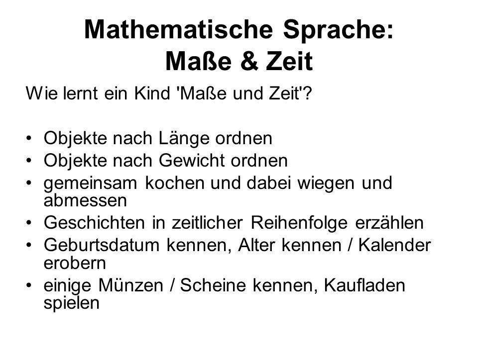 Mathematische Sprache: Maße & Zeit