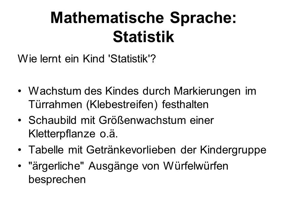 Mathematische Sprache: Statistik