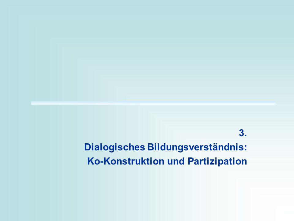 3. Dialogisches Bildungsverständnis: Ko-Konstruktion und Partizipation