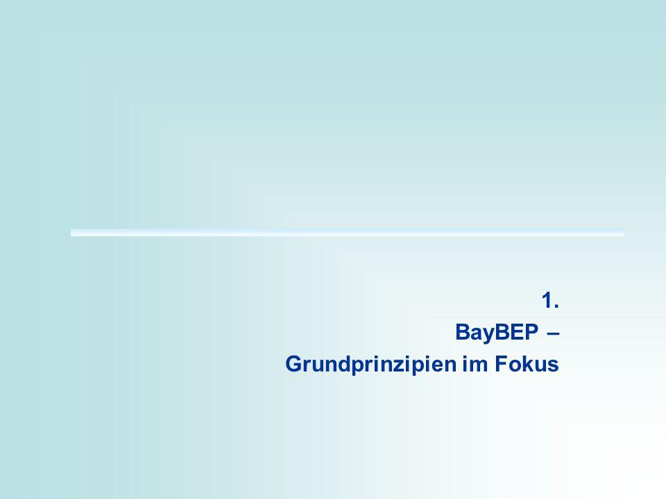 1. BayBEP – Grundprinzipien im Fokus