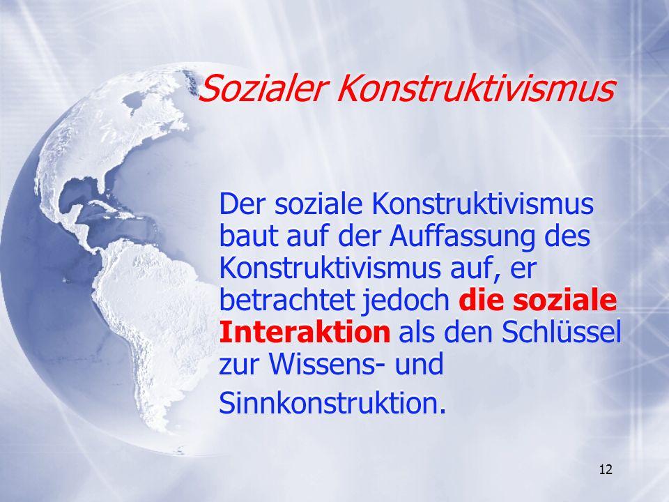 Sozialer Konstruktivismus