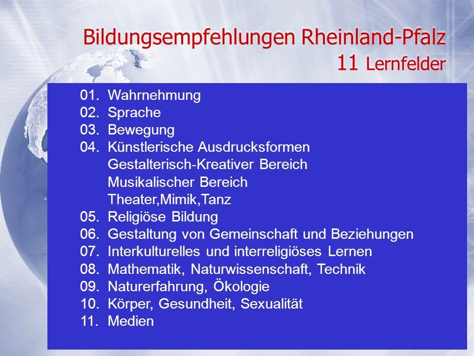 Bildungsempfehlungen Rheinland-Pfalz 11 Lernfelder