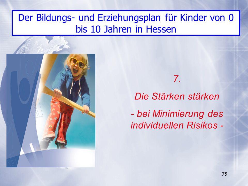 - bei Minimierung des individuellen Risikos -