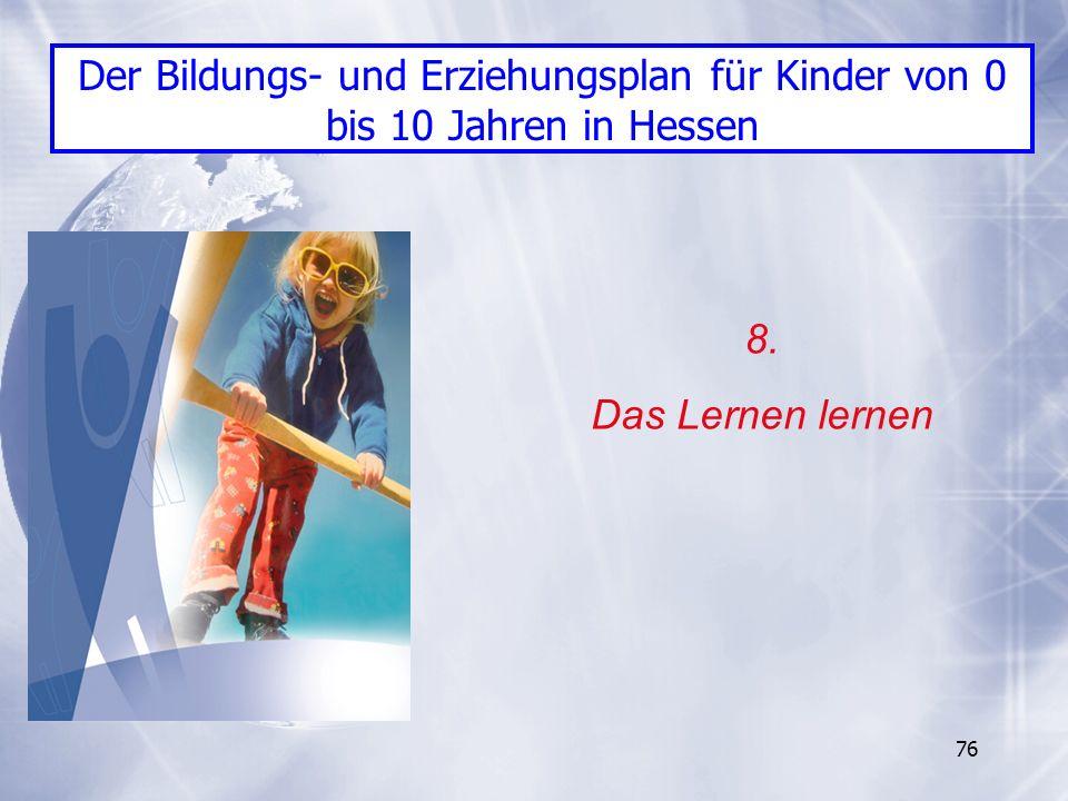 Der Bildungs- und Erziehungsplan für Kinder von 0 bis 10 Jahren in Hessen