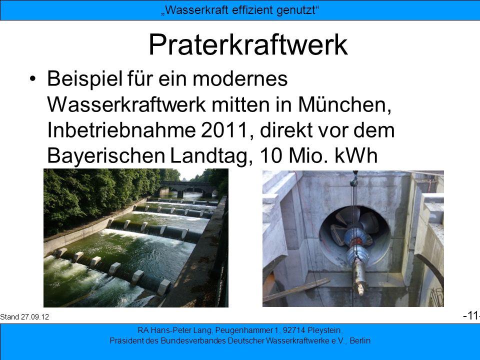 """""""Wasserkraft effizient genutzt"""