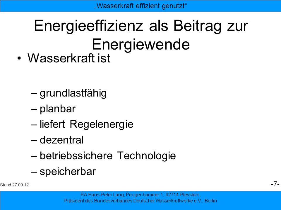 Energieeffizienz als Beitrag zur Energiewende