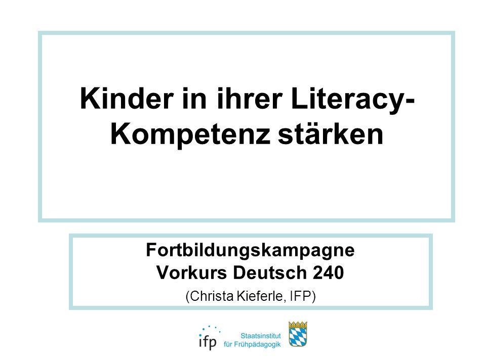 Kinder in ihrer Literacy-Kompetenz stärken